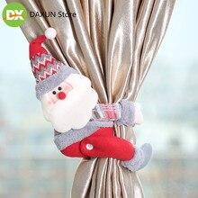 2019 Mini christmas ornaments new Christmas decoration curtain buckle holiday window scene layout cartoon  decor