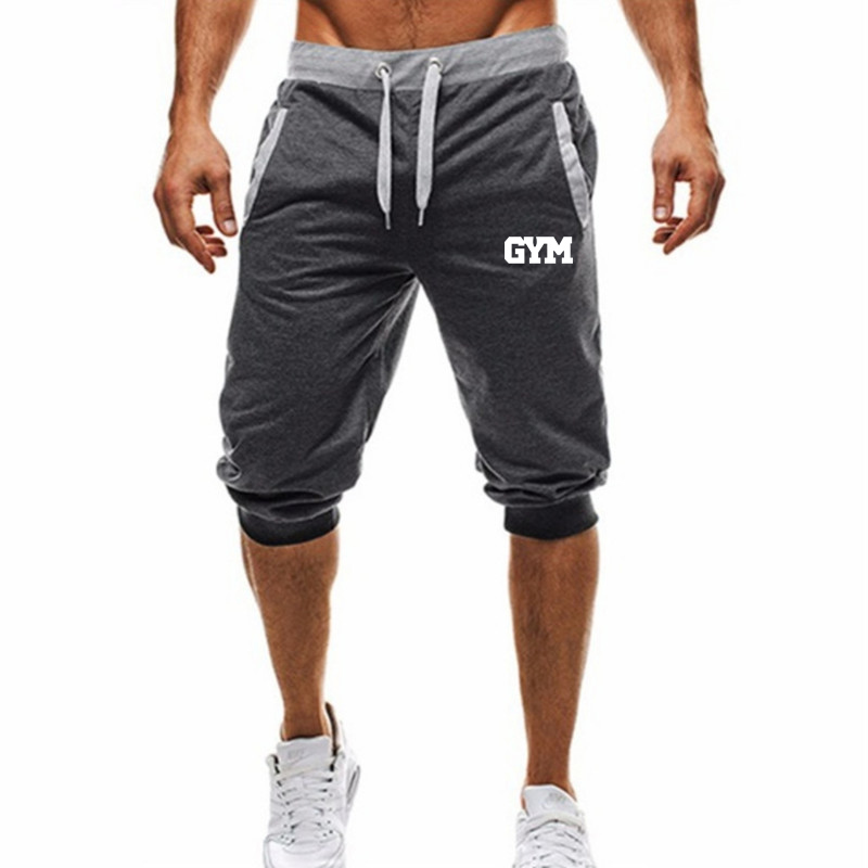 Brand New Mens Gym Shorts Run Jogging Sports Fitness Bodybuilding Sweatpants Male Workout Training Brand Knee Length Short Pant