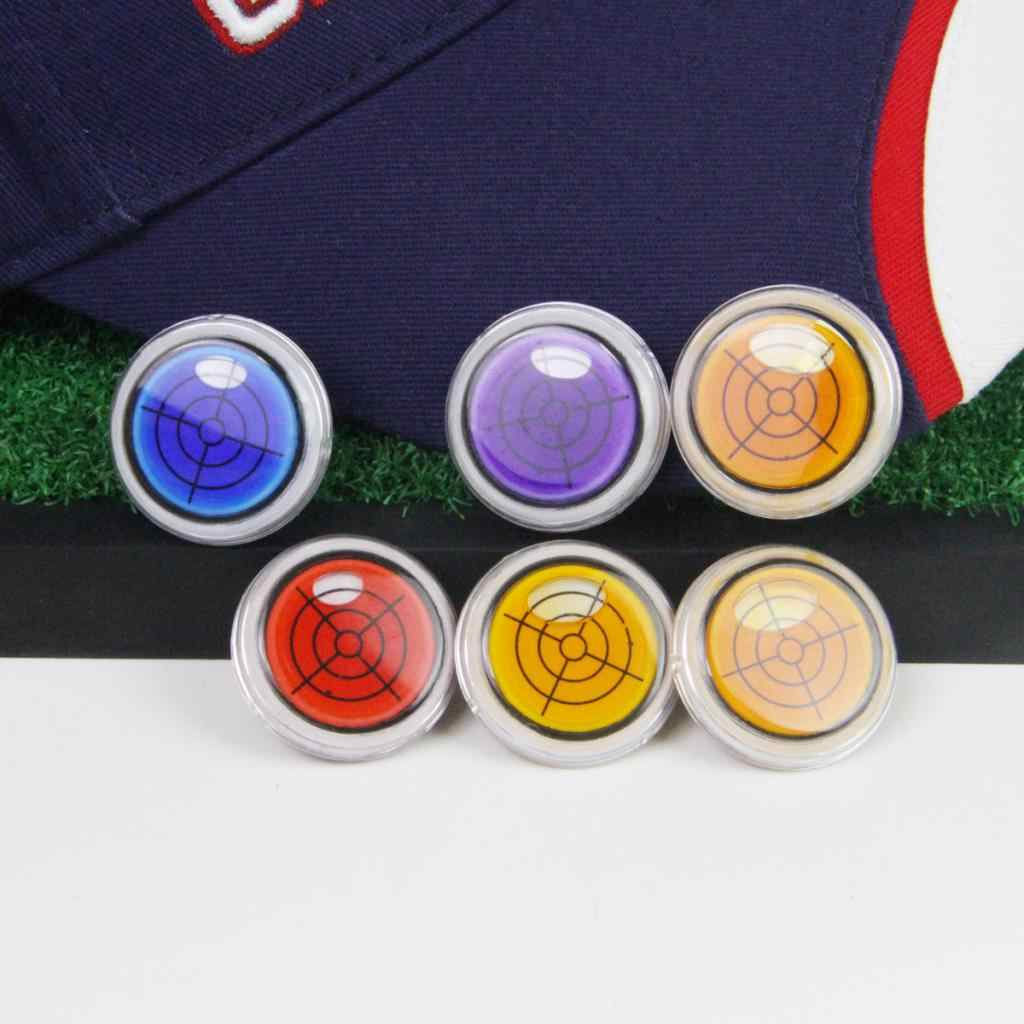 Functional Level Gauge Magnetic Cap Hat Visor Clip Golf Ball Marker - 5 Colors