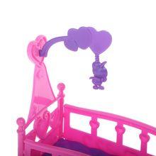 Schaukeln Wiege Bett Puppe Haus Spielzeug Möbel Für Kelly Babie Puppe Zubehör Mädchen Spielzeug Geschenk P15C
