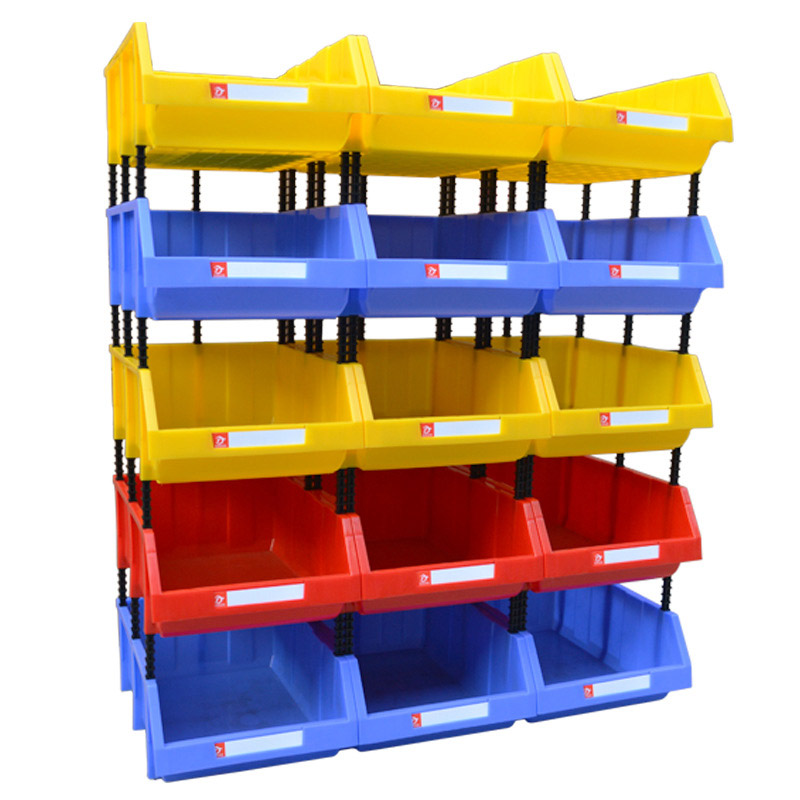 A Container Storage Box Rack Component Screw Parts Hardware Classification Workshop Shelves Case One Organizer Box High Quality