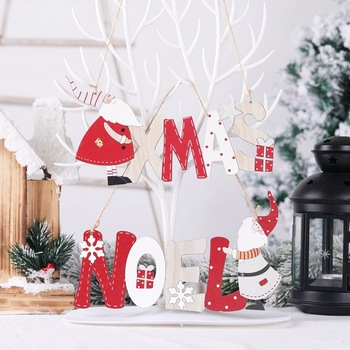 Xmas Wooden Pendants Christmas Gifts Christmas Decorations  for Home Happy New Year 2021 Navidad Decoracions Noel Natal Kerst merry christmas decorations for home christmas 2020 ornaments navidad noel xmas natal deco new year 2021 gift kerst decoratie