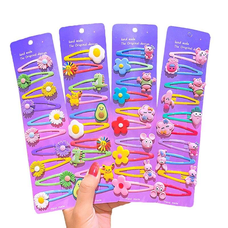 Купить милые детские bb заколки для волос шпильки с цветком животных