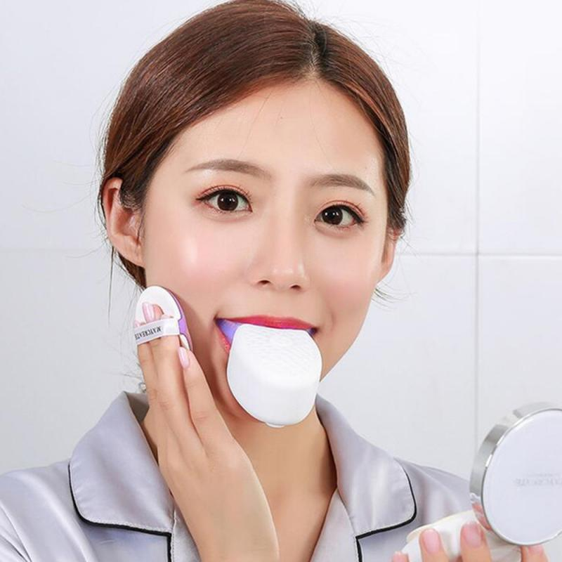 360° Wireless Automatic Electric Sonic Toothbrush Teeth Whitening Ultrasonic Tooth Cleaner Beauty Instrument Silicone Brush