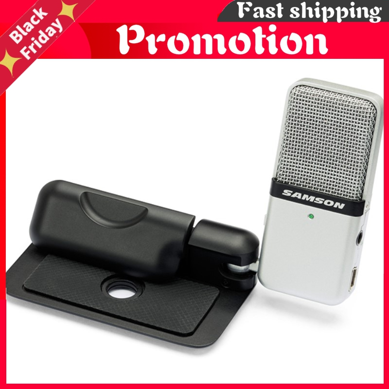 Original Go Mic Clip Type Mini Portable Recording Condenser Microphone With Usb Cable Carrying Case For Computer
