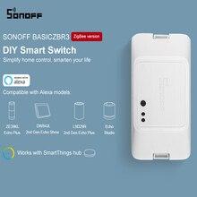 SONOFF BASICZBR3 DIY 스마트 지그비 라이트 스위치 미니 타이밍 릴레이 모듈 무선 원격 스위치 Alexa SmartThings 허브와 함께 작동