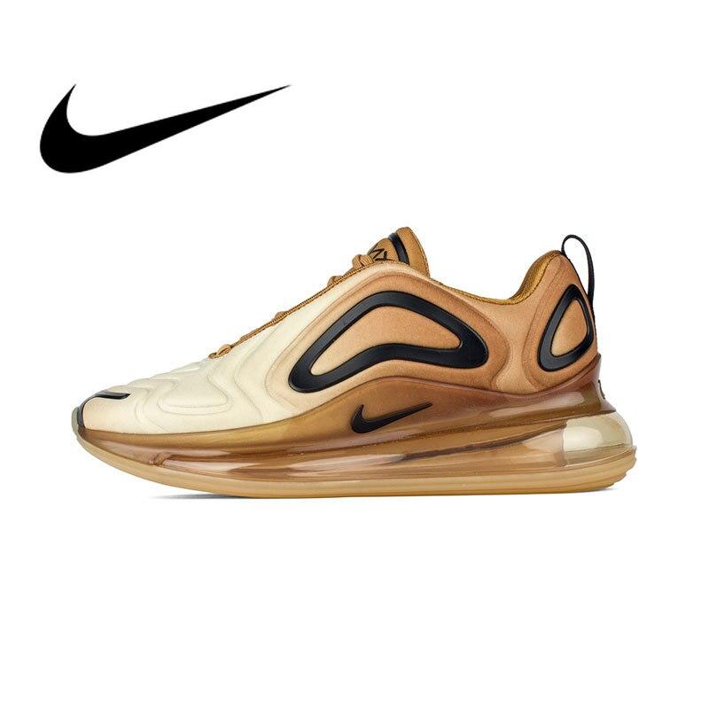Original Autêntica Nike Air Max 720 homens Athletic Shoes Respirável e Confortável Esportes 2019 Primavera Nova Listagem AO2924-004