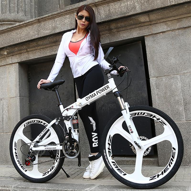 New Brand Mountain Bike Carbon Steel Frame 24/26 Inch Wheel Dual Disc Brake 24/27 Speed Bicycle Outdoor Downhill MTB Bicicleta