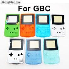 ChengHaoRan nowy pełna obudowa Shell pokrywa dla Nintendo GameBoy Color GBC konsoli obudowa Shell pakiet z przyciskiem zestaw śruby