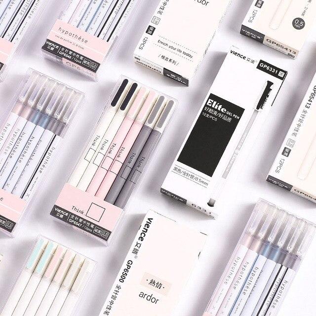 1pc Cute Simple Ball Pens 0.5mm Novelty Ballpoint Pens Kawaii Pens For Kids Girls Gift School Office Supplies Korean Stationery
