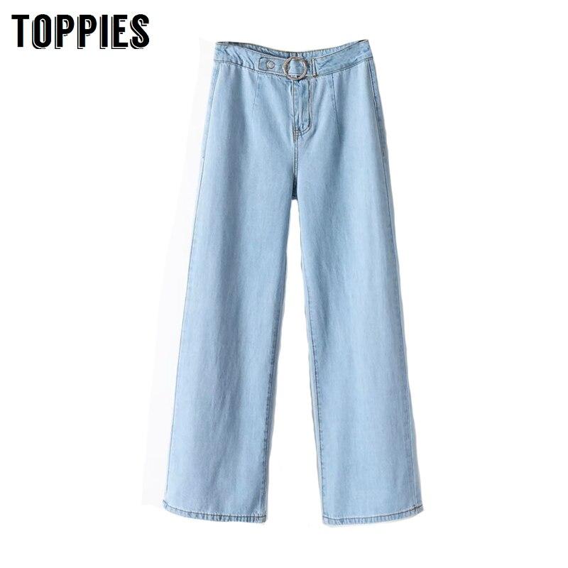 2020 Spring Jeans Woman Vintage Denim Straight Pants High Waist Loose Trousers Women Streetwear