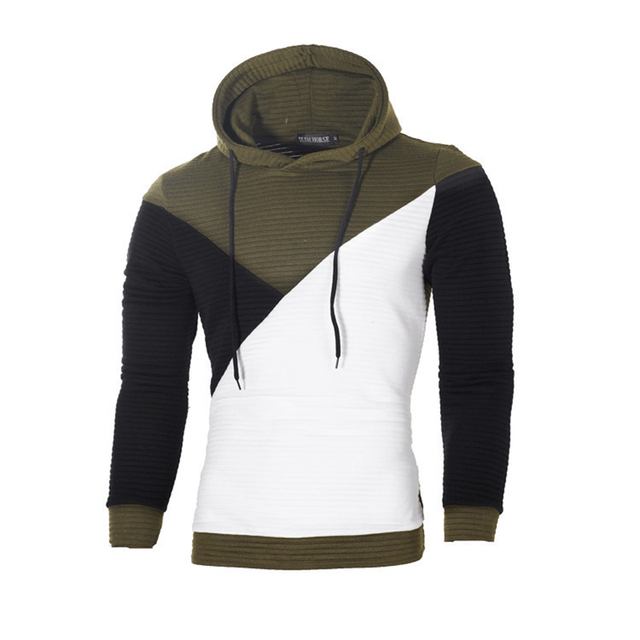 IceLion 2019 Autumn Hoodies Men Sweatshirt Patchwork Slim Fit Cotton Sportswear Fashion Tracksuit Hip Hop Streetwear Pullover 3