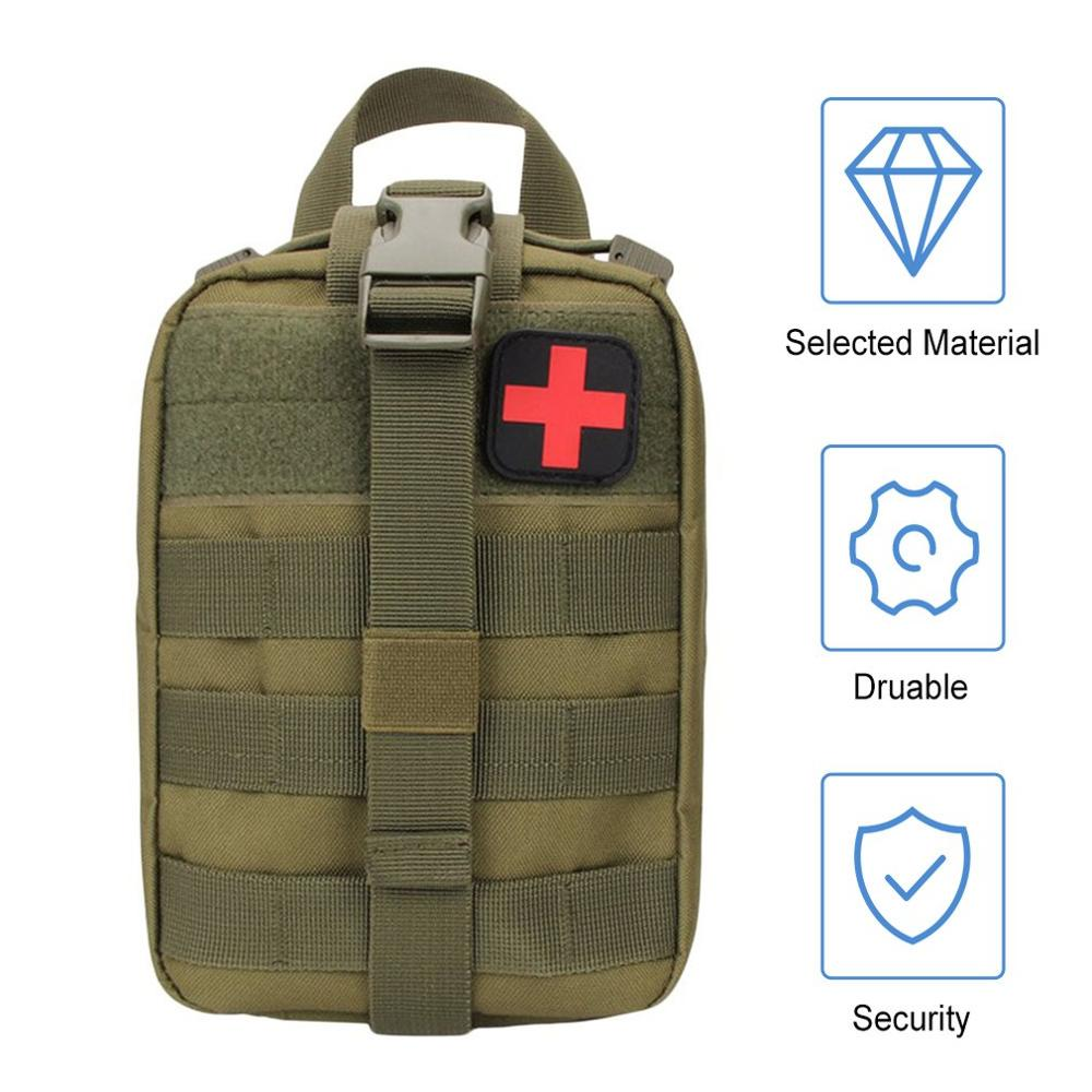 Outdoor Camping Travel First Aid Kit Tactical Medical Bag Multifunctional Waist Pack Camping Climbing Emergency Case