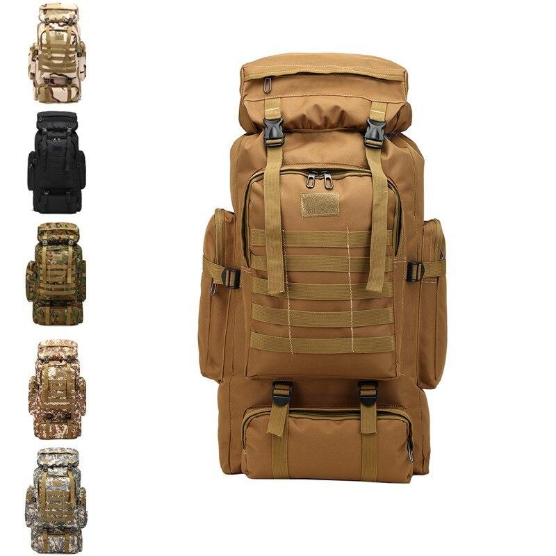 Hommes 70L grand Camping randonnée sac à dos tactique militaire Molle sac à dos pour Trekking voyage imperméable Pack grand sac à dos