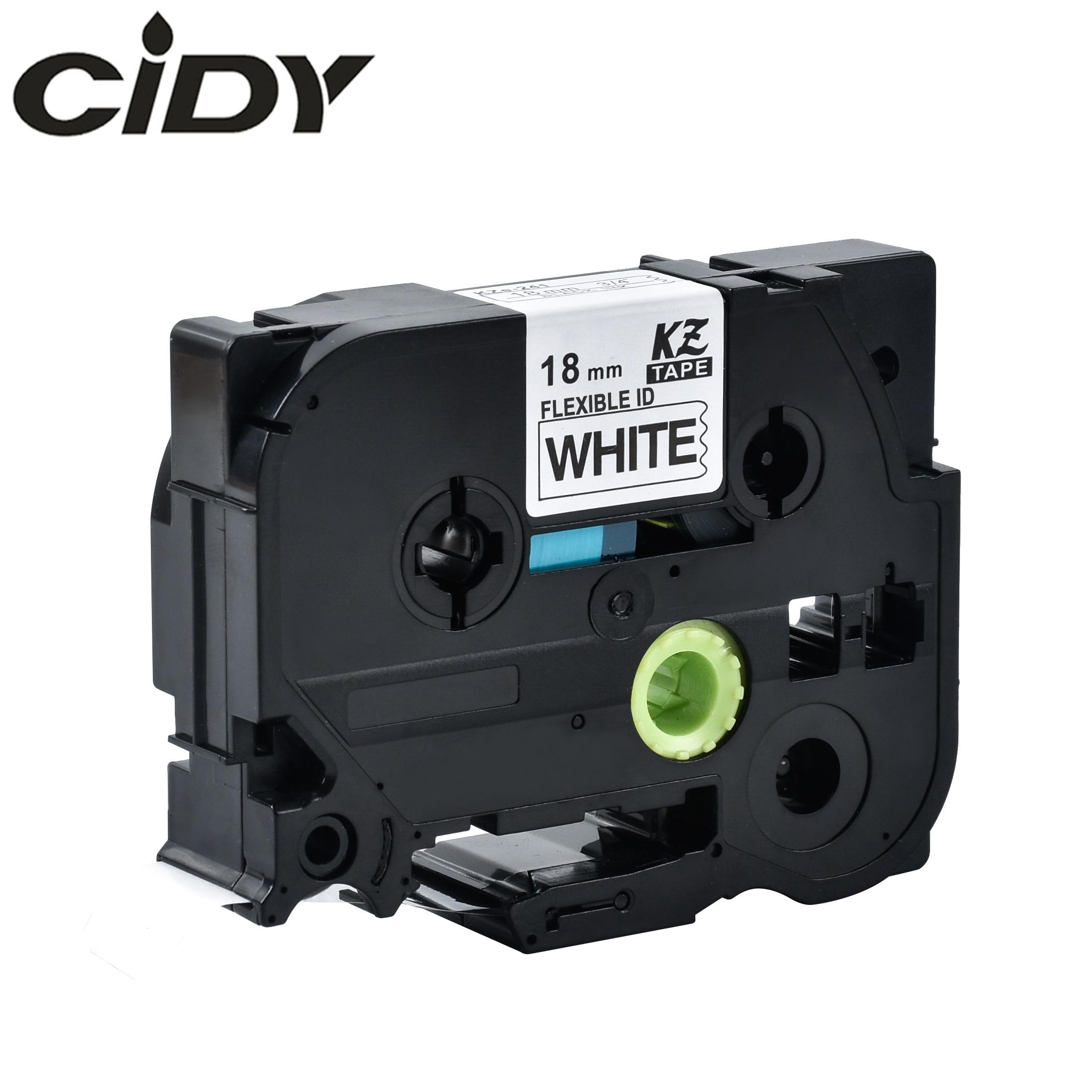 CIDY Tze-FX241 Tz-FX241 Black On White Flexible Label Compatible P Touch 18mm Tze FX241 Tz FX241 Label Tape Cassette Cartridge
