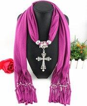 fringe polyester scarf classic cross pendant accessories scarf female 180x40cmpendant scarf цена 2017