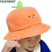 New Autumn Baby Hat with Green Trees Bud Basin Caps Kids for Boys Girls Children Cap