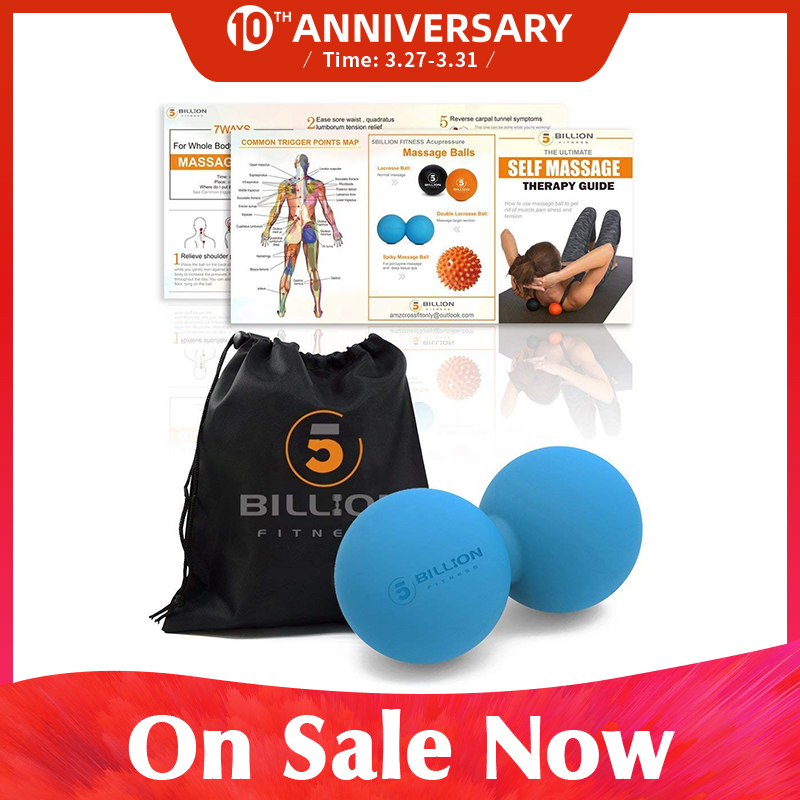 PROCIRCLE Double Lacrosse Ball Peanut Massage Ball For Thoracic Spine - Upper Back, Neck, Scapula