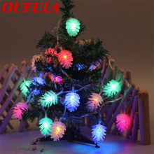 OUFULA Pinecone Light String LED Christmas Birthday Party Decoration Holiday Light(China)