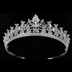 Tiaras And Crown HADIYANA Luxury Gorgeous Cubic Zircon Women Wedding Party Hair Accessories BC5365 Accesorios para el cabello
