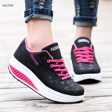 Women Sneakers 2020 Breathable Wedges Platform Vulcanize Shoes Woman Pu Leather  Casual  tenis feminino z206 shoes woman 2020 pu leather breathable sneakers women shoes waterproof wedges platform shoesladies casual shoes women sneakers