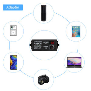 Image 5 - Fonte de alimentação regulada da tensão da tela adatpor 24 v 1 a 4/8 adaptador de alimentação ajustável da tela do diodo emissor de luz ac para dc 9 v 24 v universal