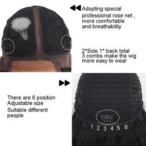 Image 5 - Xtrend Haar Synthetische Lace Front Pruik Korte Body Wave Midden Deel Pelucas De Mujer Zwarte Kleur 14 Inch Lace Pruik