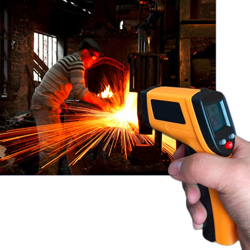 Image 2 - Infrared Thermometer 380 Degree Celsius LCD Display Temperature 