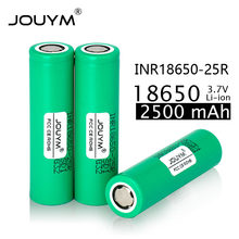 JOUYM 18650 2500mAh Rechargeable battery 3.7V INR18650 25R M 20A discharge Li-ion Batteries 15A cell