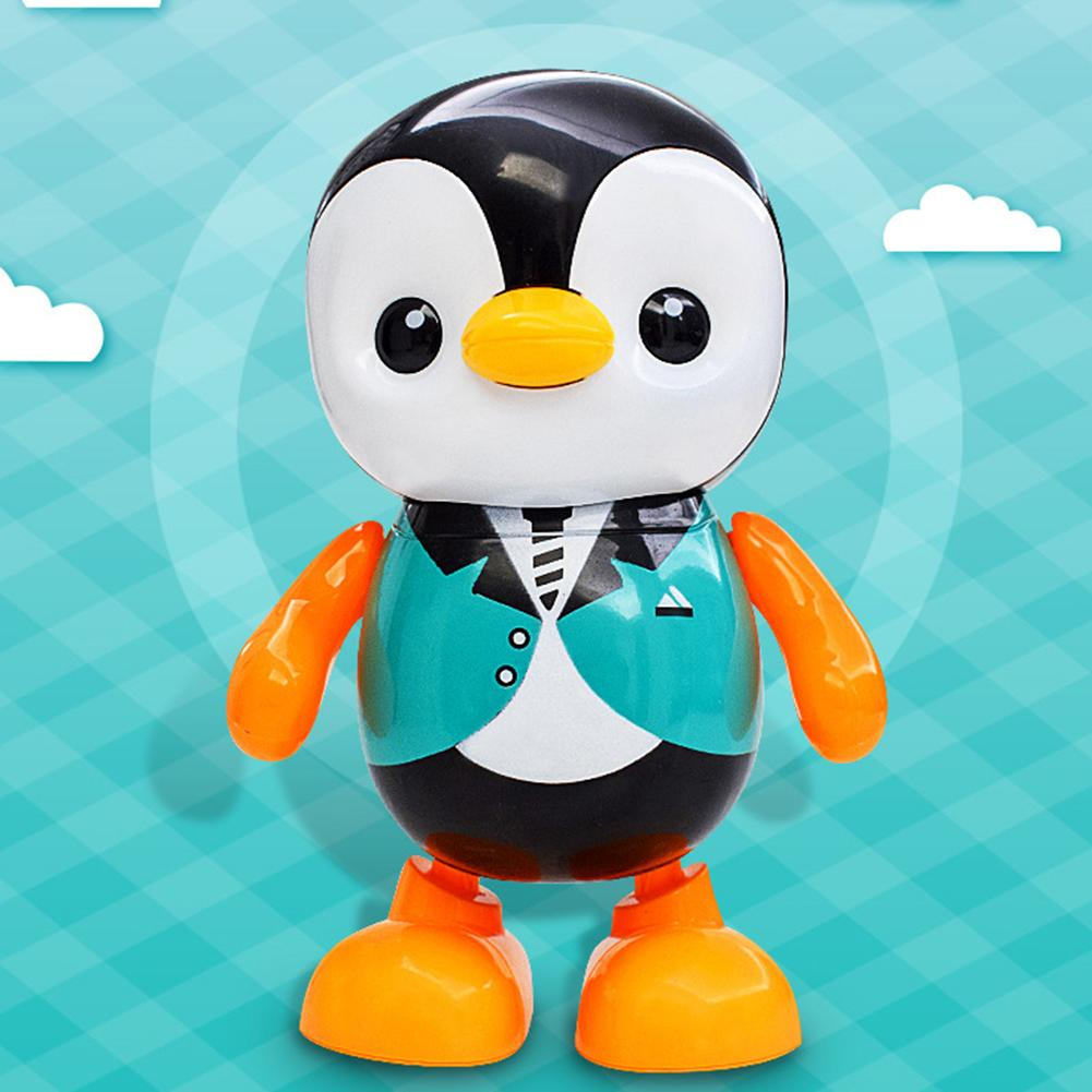 Electric Penguin Animal LED Flashing Music Dancing Robot Interactive Kids Toy