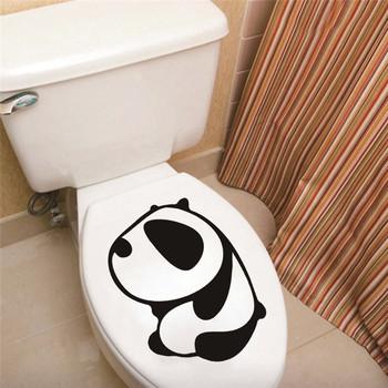 Panda szklane drzwi do łazienki naklejki ścienne do domu naklejki dekoracyjne naklejki łazienkowe naklejka na toaletę naklejki PCV tanie i dobre opinie Płaska naklejka ścienna Nowoczesne For Wall Jednoczęściowy pakiet PATTERN