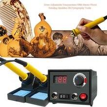 110V / 220V Temperature Adjustable Digital Display Woodware Iron Pen Wood Burner Kit Crafts Tool Wood Pyrography Tool US Plug