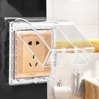 Wasserdichte Box Staubdicht Schutzhülle Universal Steckdose Schalter Platte Outlet Tür Glocke Box 86 Typ Splash Box/#