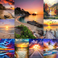 Diamond Painting DIY Landscape Sunset Sea Cross Stitch Full Square Round Drill Embroidery Handmade Home Room Wall Decor Craft