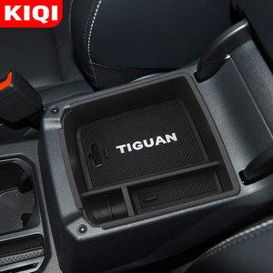 Автомобильный подлокотник, центральный ящик для хранения, контейнер, органайзер для перчаток, чехол для Volkswagen VW Tiguan MK2 2016 2017 2018 2019 2020, аксессуары|Наклейки на автомобиль|   | АлиЭкспресс