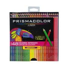 Prismacolor junior 48 lapis de cor caixa de papel, 4.0mm núcleos coloridos oleosos, ideal para desenhar e colorir, versão espanhola