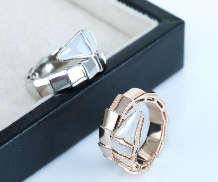 Luxe S925 serpent os coquille bagues beauté accessoires de mode anneau de printemps bijoux de mode fête amoureux cadeaux