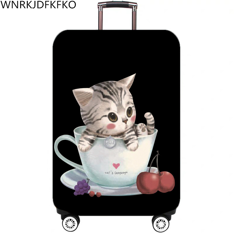 Cartoon Pattern Travel Luggage Suitcase Protective Cover Trolley Luggage Bag Cover Men Women Thick Elastic Holster For Suitcase