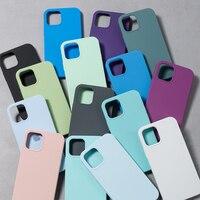 Custodia in Silicone originale di lusso per iPhone SE 2020 12 Mini X XR XS Max custodie per Apple iPhone 11 Pro Max 7 8 6 6S Plus 12 Pro custodia