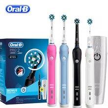 Oral b ultra sônica escova de dentes elétrica clareamento recarregável 3d inteligente escova de dentes adulto diário limpo goma cuidados