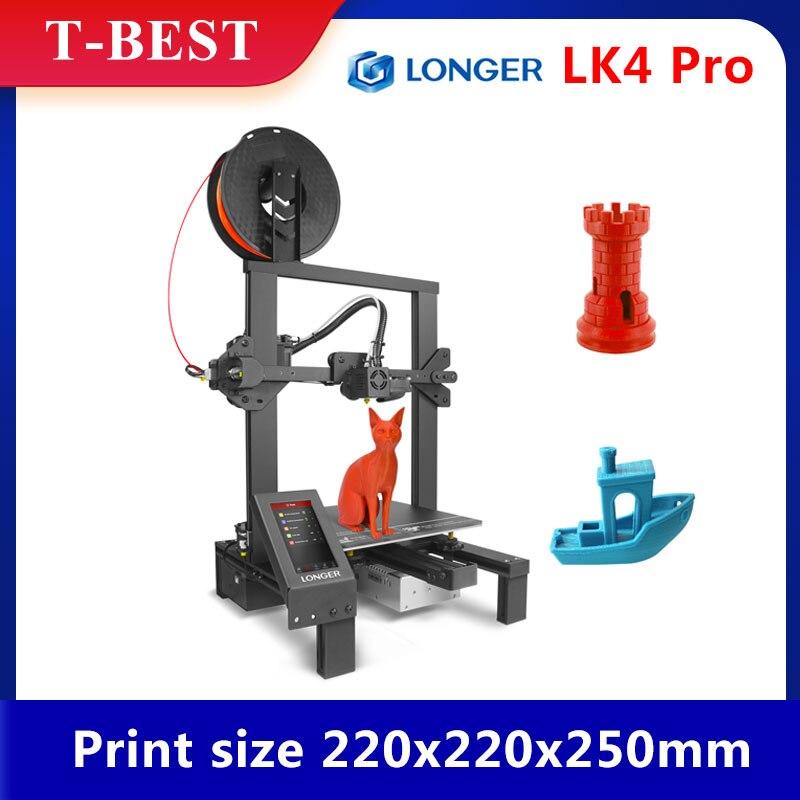 Больше LK4 Pro FDM 3D-принтеры с 4,3 дюймов полный Цвет сенсорного экрана TMC2208 ультра-тихий драйвер нить принт Размер 220x220x250mm
