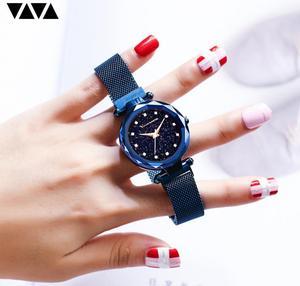 Image 4 - แฟชั่นนาฬิกาข้อมือสแตนเลสRose Goldกันน้ำสุภาพสตรีแม่เหล็กนาฬิกาควอตซ์ 2019 Relogio Femininoของขวัญ