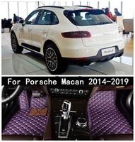 Car 3D Luxury Leather Car Floor Mats Fits For  Porsche Macan 2014 2019 EMS Free shipping|Floor Mats|   -