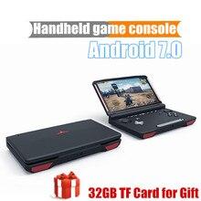 X18 andriod console de jogo de mão, 5.5 polegadas, tela 1280*720, mtk8163, quad-core, 2g de ram, 32g de rom vídeo player portátil de mão