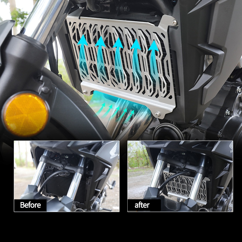 Motorcylce Radiator Grill Guards Cover Grill CoverProtector Racing Protective Cover For Honda CBR500R CB500X 2019+(Black)