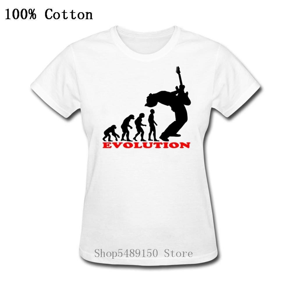 Engraçado legal guitarra baixo jogador evolução camiseta verão moda topo camiseta feminino músico algodão manga curta hipster casual tshirts