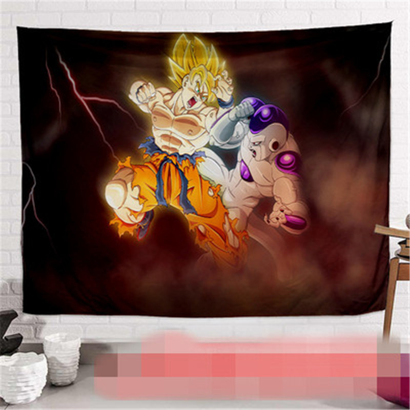 Dragon Ball Son Goku impression dortoir fond tissu Action Figure Anime maison décorative tissu tapisserie X2589 - 2