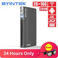 BYINTEK UFO P12 300inch 2019 Newest Smart 3D Full HD 4K 5G WIFI Android Pico Pocket HD Portable Micro Mini LED DLP Projector