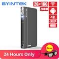 BYINTEK UFO P12 300 zoll 2019 Neueste Smart 3D Full HD 4K 5G WIFI Android Pico Tasche HD tragbare Micro Mini LED DLP Projektor