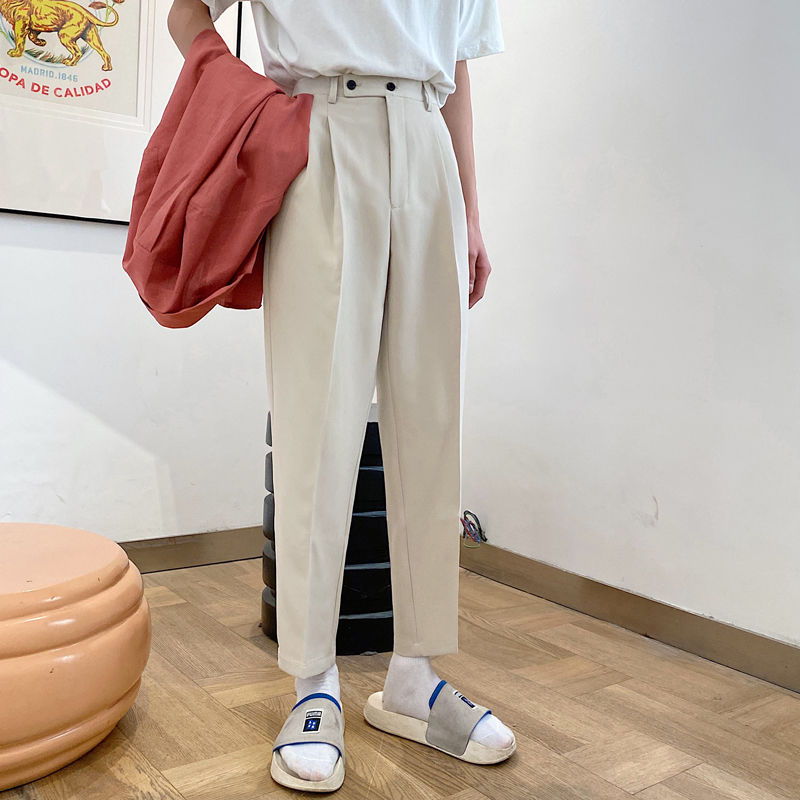 2021 Men's Straight Pants Loose Casual Pants Western Trouser thicken velvet Suit Pants Formal Business Cotton Trousers S XL